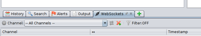 OWASP ZAP WebSockets tab